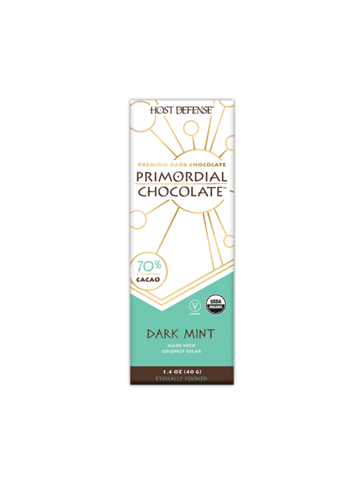 HOST DEFENSE Host Defense Mushroom Primordial Chocolate Bar, Dark Mint