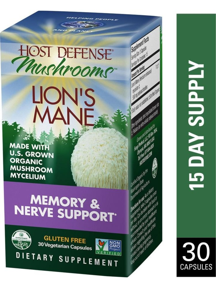 HOST DEFENSE Host Defense Lion's Mane 30ct
