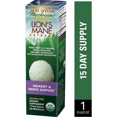 HOST DEFENSE Host Defense Lion's Mane Extract, 1oz.