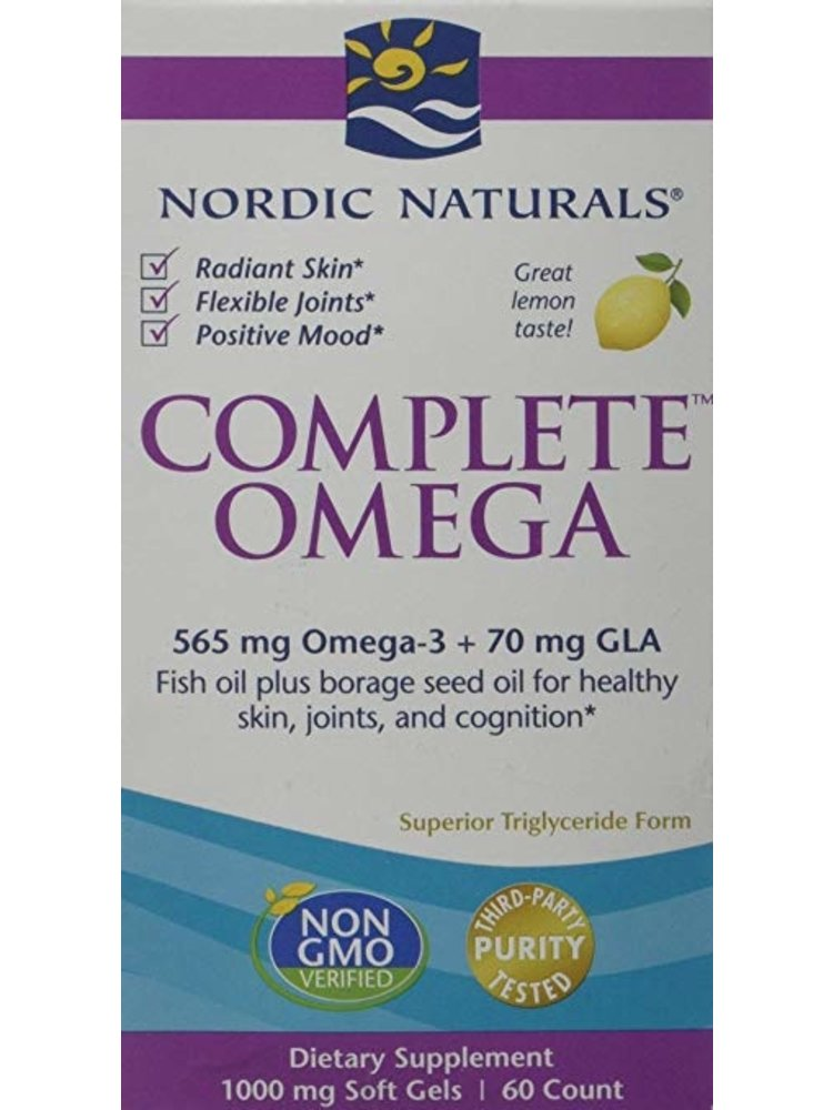 Nordic Naturals Nordic Naturals Complete Omega 3-6-9, Lemon, 60ct