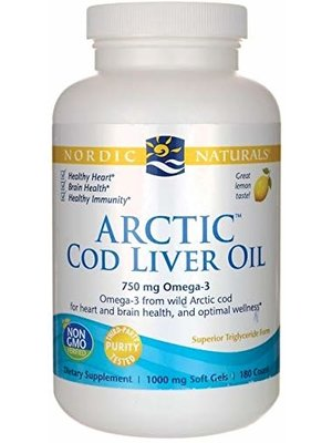 Nordic Naturals Nordic Naturals Arctic Cod Liver Oil Lemon, 90ct