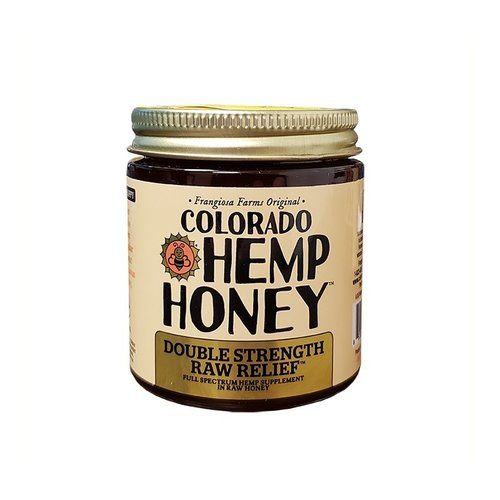 COLORADO HEMP HONEY Colorado Hemp Honey, Raw Double Strength 6oz
