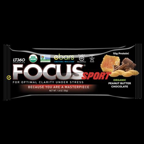 ebars FOCUS Sport Bar, Choc Peanut, Organic, 1.6oz.
