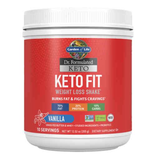 Garden of Life GoL Dr. Formulated Keto Fit Shake, Vanilla, 10-ct