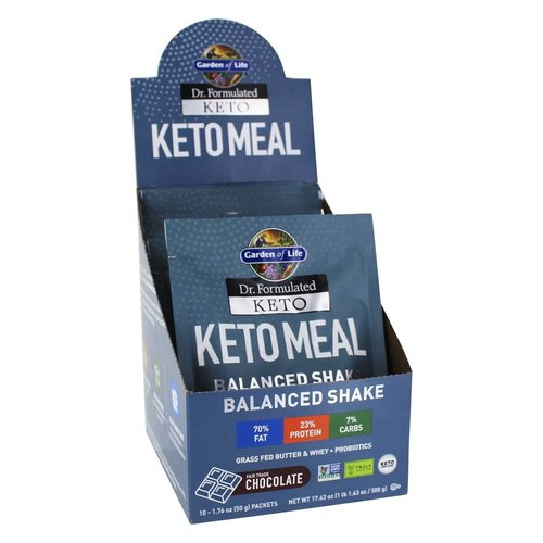 Garden of Life GoL Dr. Formulated Keto Meal Shake, Chocolate, 10-ct
