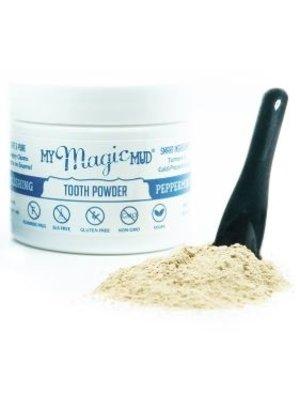 My Magic Mud Turmeric & Cacao Tooth Powder, Peppermint, 1.06oz.