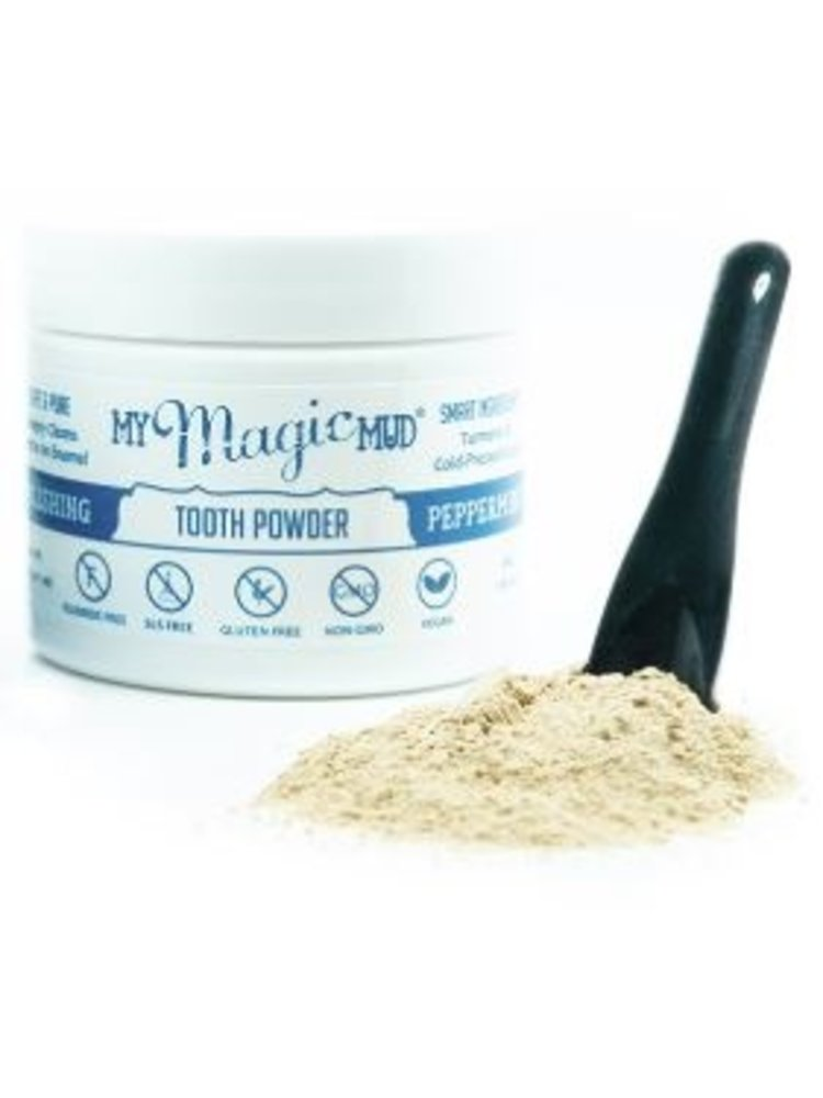 My Magic Mud My Magic Mud Turmeric & Cacao Tooth Powder, Peppermint, 1.06oz.