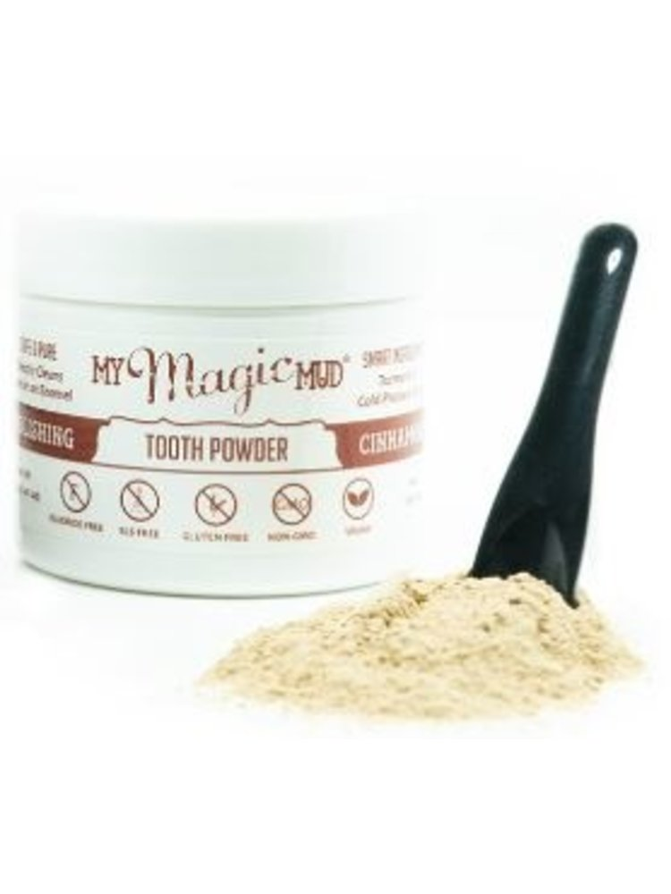 My Magic Mud Turmeric & Cacao Tooth Powder, Cinnamon, 1.06oz.