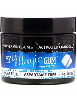 My Magic Mud My Magic Mud Charcoal Gum w/Xylitol, Peppermint, 30ct