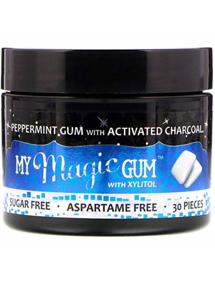 My Magic Mud Charcoal Gum w/Xylitol, Peppermint, 30ct