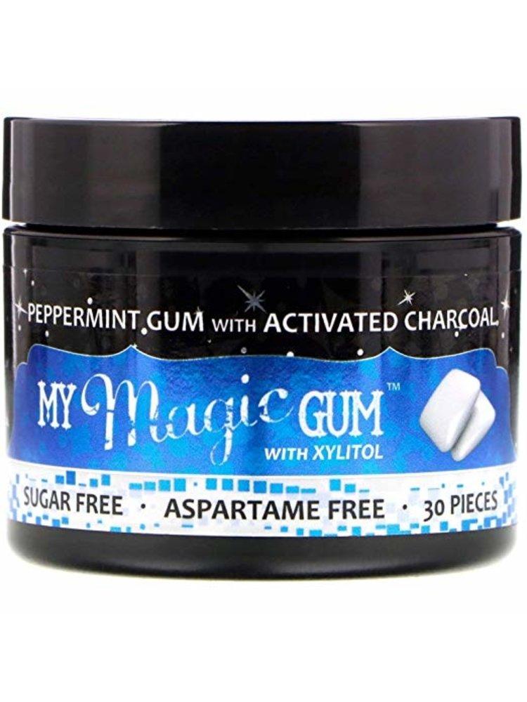 My Magic Mud My Magic Mud Charcoal Gum w/Xylitol, Peppermint, 30ct
