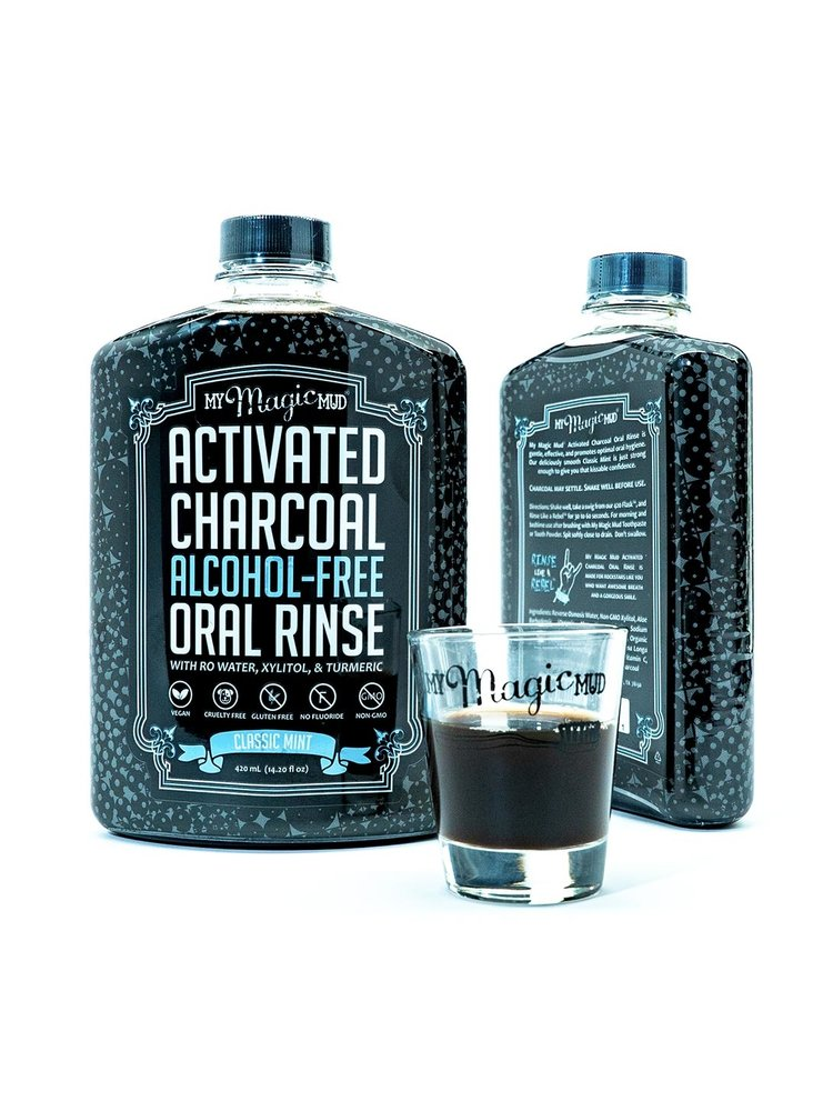 My Magic Mud Activated Charcoal Oral Rinse, Classic Mint, 14.2oz.