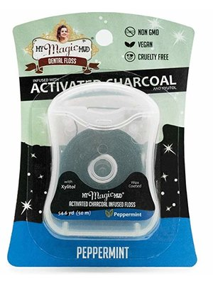 My Magic Mud My Magic Mud Activated Charcoal Infused Dental Floss, Peppermint, 4oz.