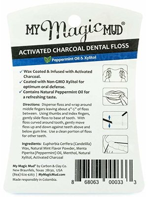 My Magic Mud Activated Charcoal Infused Dental Floss, Peppermint, 4oz.