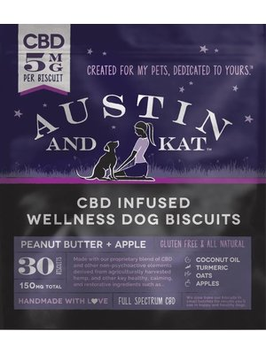 AUSTIN & KAT'S Austin and Kat Wellness Dog Biscuits 5mg, 30ct