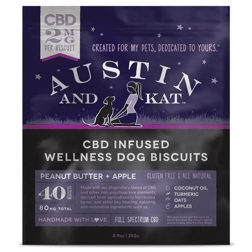 AUSTIN & KAT'S Austin and Kat Wellness Dog Biscuits 2mg, 40ct