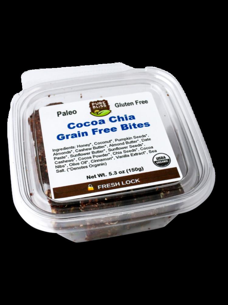 Pure Bliss Pure Bliss Organics Cocoa Chia with Turmeric Paleo Bites, 5.3oz. - Disco
