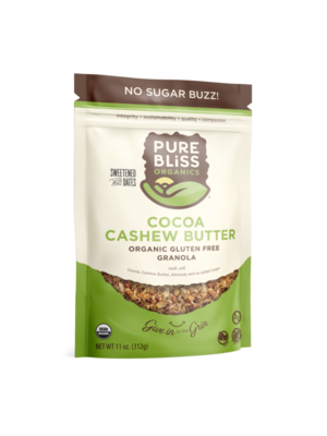 Pure Bliss Pure Bliss Organics No Sugar Buzz Cocoa Cashew Butter Granola, 12oz.