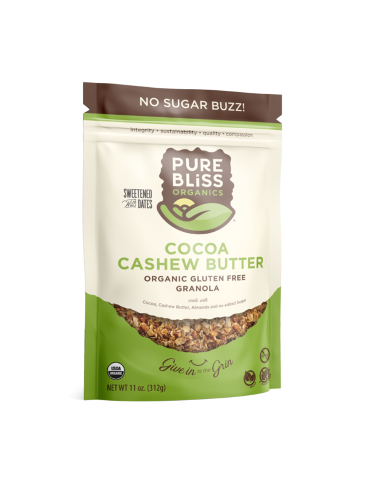 Pure Bliss Pure Bliss Organics Cocoa Cashew Butter Granola, 11oz.