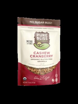 Pure Bliss Pure Bliss Organics No Sugar Buzz Cashew Cranberry Granola, 12oz.