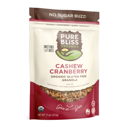 Pure Bliss Pure Bliss Organics Cashew Cranberry Granola, 11oz.