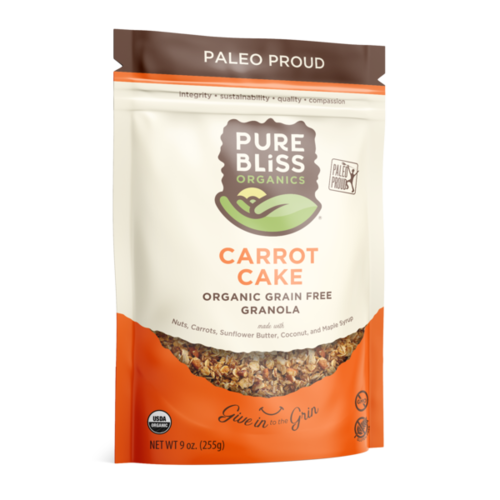 Pure Bliss Pure Bliss Organics Carrot Cake Paleo Granola, 9oz.