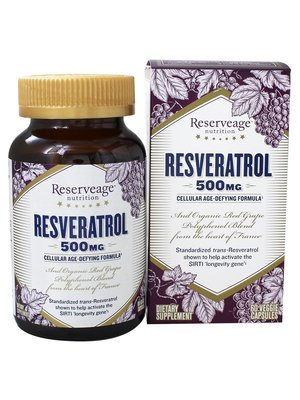 Reservage Reserveage Resveratrol 500mg, 60vc