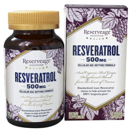 Reservage Reserveage Resveratrol 500mg, 60vc