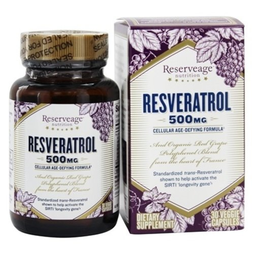 Reservage Reserveage Resveratrol 500mg, 30vc