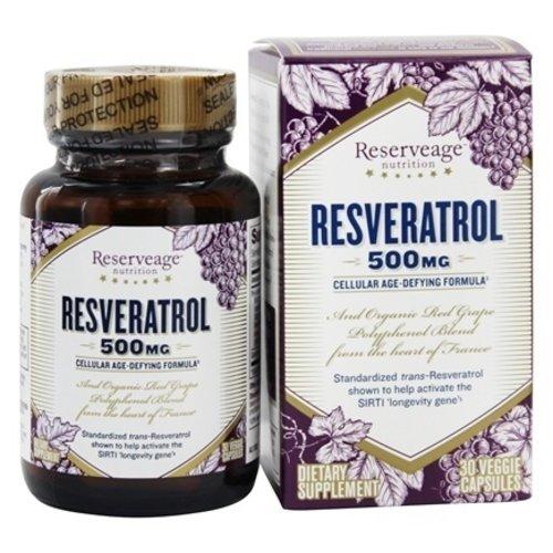 Reservage Reserveage Resveratrol 500mg, 30vc
