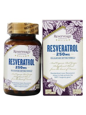 Reservage Reserveage Resveratrol 250mg, 60vc