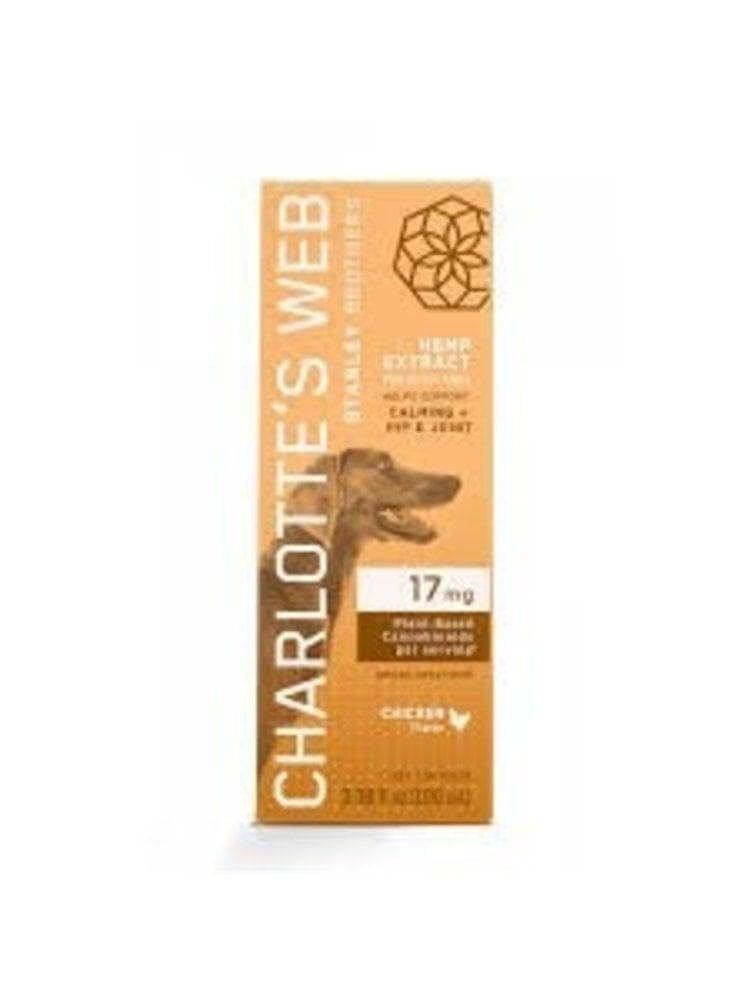CHARLOTTE'S WEB Charlotte's Web Canine Drops 17mg, Chicken, 1oz.