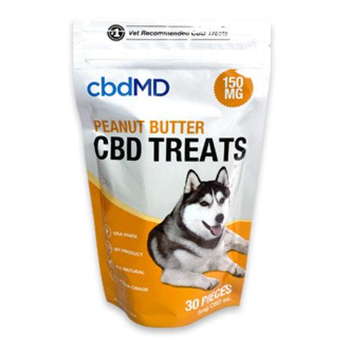 CBDMD cbdMD Dog Treats, Peanut Butter, 4.4oz, 150mg