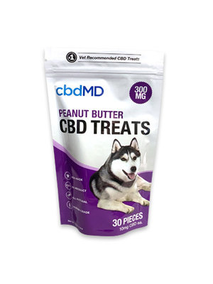 CBDMD cbdMD Dog Treats, Peanut Butter, 4.4oz. 300mg