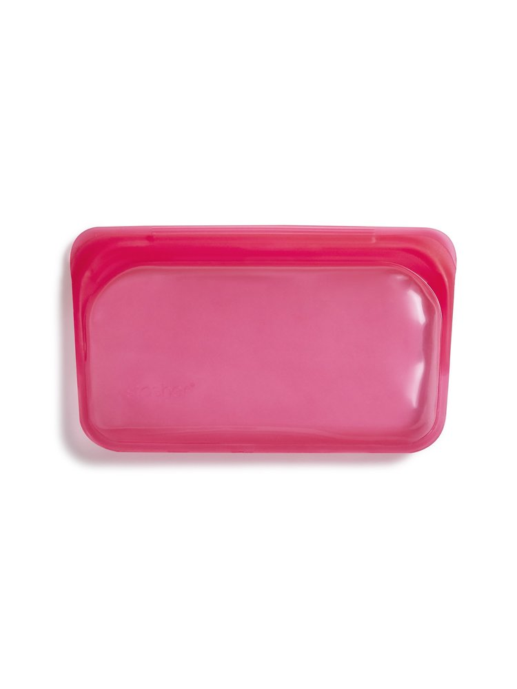 Stasher Stasher Snack Bag - Small, Raspberry
