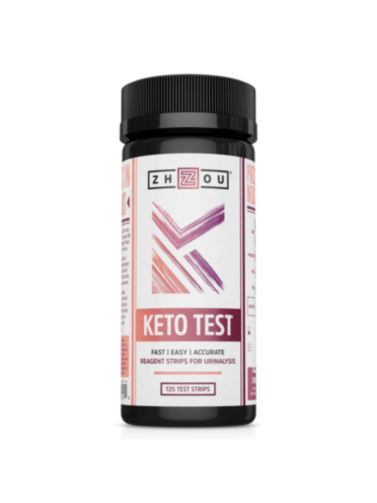 Zhou Nutrition Zhou Keto Test, 125ct