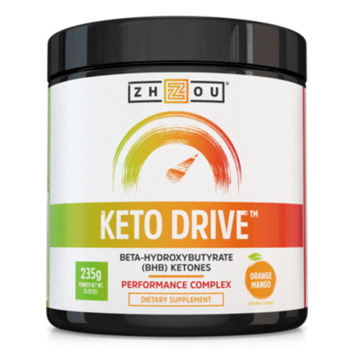 Zhou Nutrition Zhou Keto Drive Ketones, Orange Mango, 8.29oz.