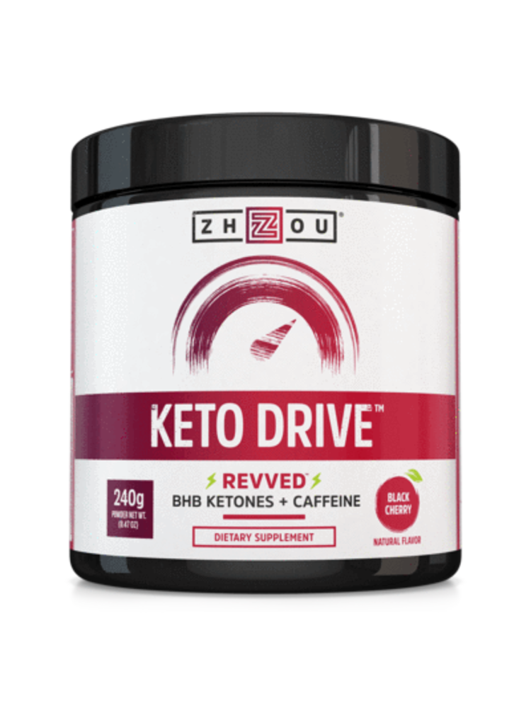 Zhou Nutrition Zhou Keto Drive Ketones, Black Cherry, 8.47oz.