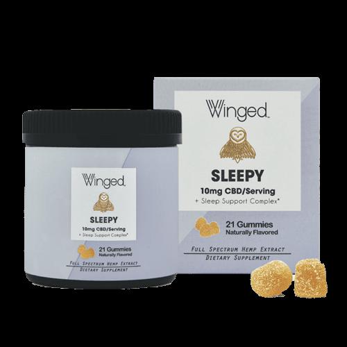 WINGED Winged CBD Sleepy Gummies 10mg, 21ct
