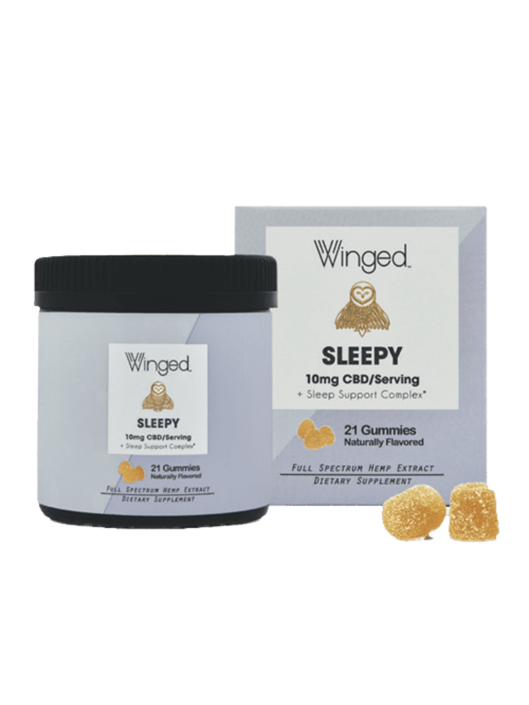 WINGED Winged CBD Sleepy Gummies 10mg, 21ct