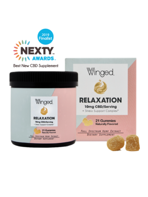 WINGED Winged CBD Relaxation Gummies 10mg, 21ct