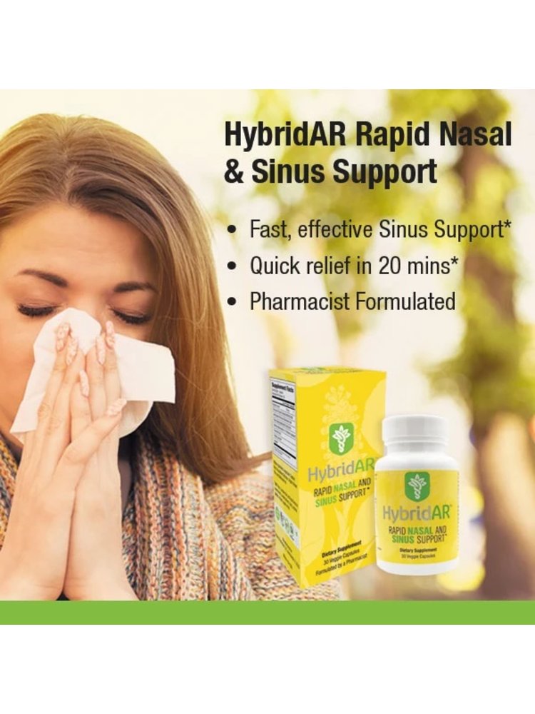 Hybrid Remedies Hybrid Defense HybridAR Rapid Nasal/Sinus Support, 30cp