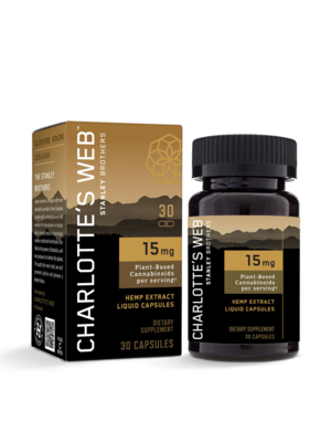 CHARLOTTE'S WEB Charlotte's Web 15mg Liquid Capsules, 60vc