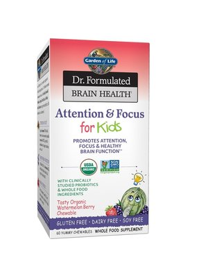 Garden of Life GoL Dr. Formulated Brain Health Attention & Focus for Kids, 60t