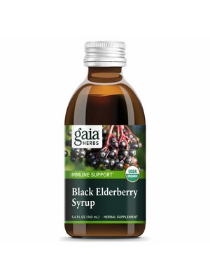 GAIA HERBS Gaia Black Elderberry Syrup, 5.4oz.