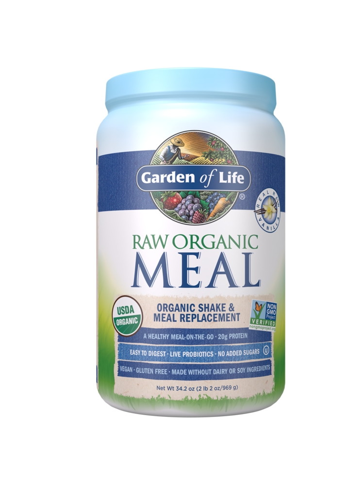 Garden of Life GoL RAW Organic Meal Vanilla, 34.2oz