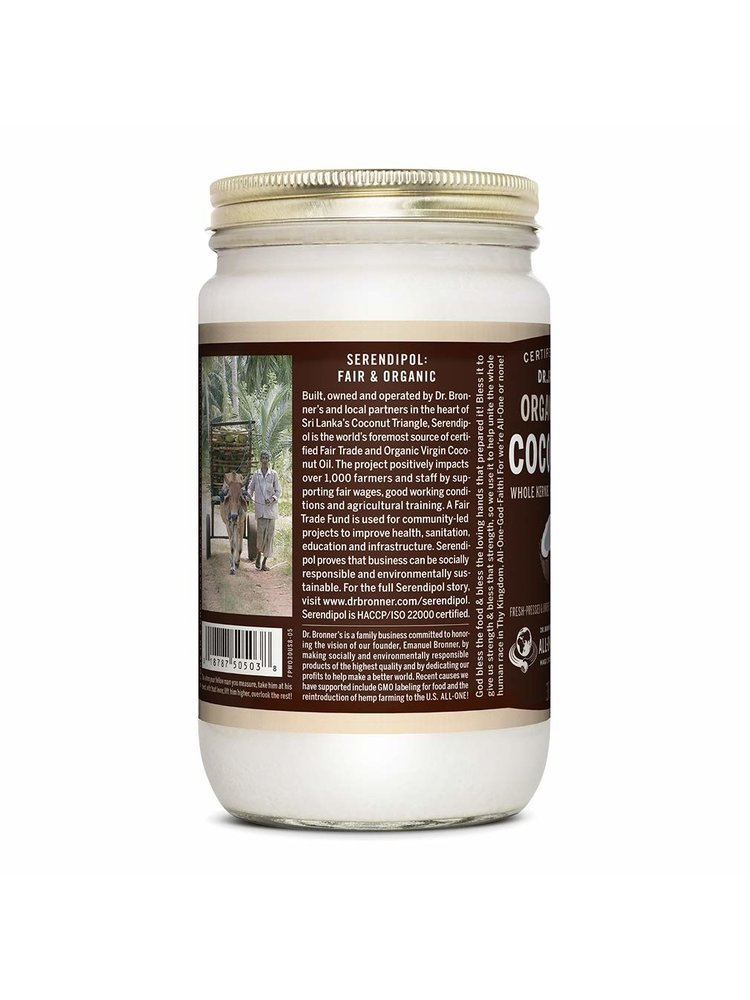 Dr. Bronner's Dr. Bronner's Coconut Oil Whole Kernel, 30oz.
