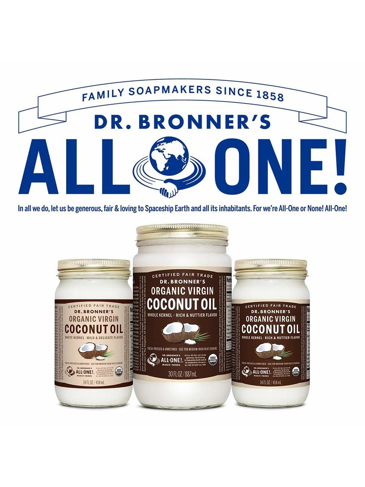 Dr. Bronner's Dr. Bronner's Virgin Coconut Oil, Organic, White Kernel, 14oz.