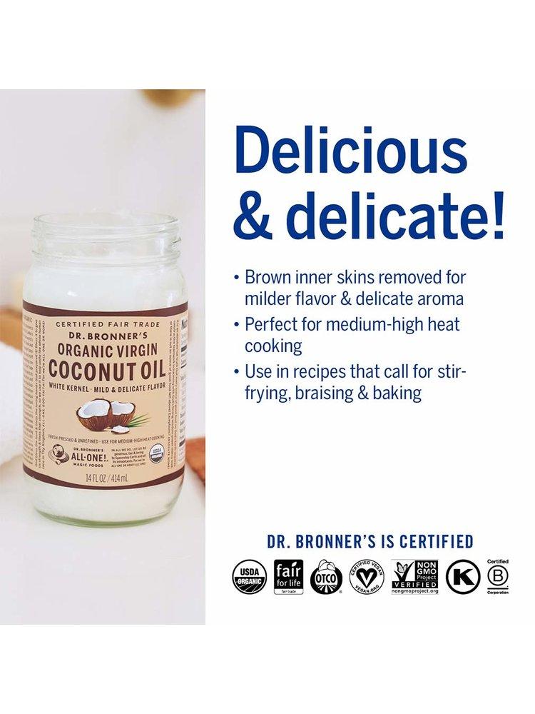 Dr. Bronner's Dr. Bronner's Virgin Coconut Oil, Organic, White Kernel, 14oz.