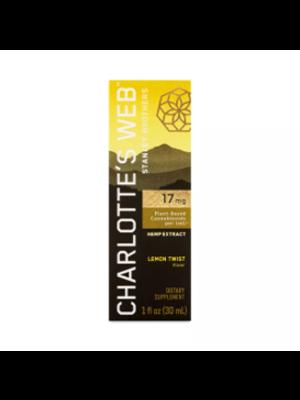 CHARLOTTE'S WEB Charlotte's Web 17mg Oil, Lemon Twist, 1oz.
